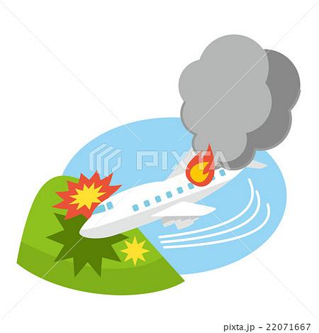 イラスト素材: 墜落事故 旅客機事故 テロ【災害・シリーズ】
