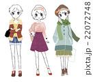 女の子 全身 ファッションのイラスト 22072748