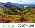 紅葉の大菩薩峠稜線から富士山の眺望 22074106