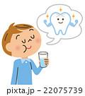 口の予防をする子供 22075739