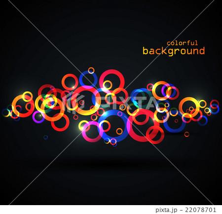 Abstract colored circlesのイラスト素材 [22078701] - PIXTA