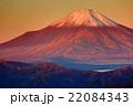 丹沢・檜洞丸から見る朝焼けの富士山 22084343