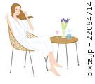 バスタイム 風呂上がりにリラックスする女性 22084714