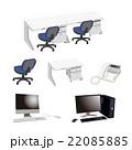 デスク デスクトップパソコン 机のイラスト 22085885