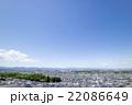 日野市の高台から見た住宅街の風景  22086649