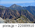 北アルプス槍ヶ岳からの常念岳 22089910