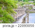 新緑のもみじと渡月橋 22093050