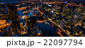 メルボルン 夜景 ヤラ川の写真 22097794