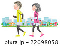 女性 男性 ジョギングのイラスト 22098058