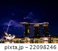 シンガポールのマリーナベイサンズホテルと雷 22098246