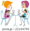 親子 女性 子供のイラスト 22104795