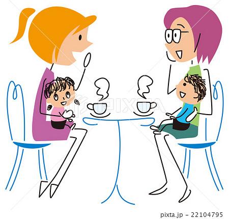 子供連れの女子会のイラスト素材 22104795 Pixta