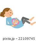 妊婦 赤ちゃん 胎児のイラスト 22109745