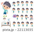 男の子 子供 病気のイラスト 22113035