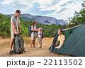キャンプ ファミリー 家族の写真 22113502