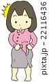 スカート きつい 女性のイラスト 22116436