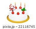 クリスマスケーキのリアルイラスト 22116745