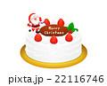 クリスマスケーキのリアルイラスト 22116746