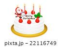 クリスマスケーキのリアルイラスト 22116749