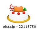 クリスマスケーキのリアルイラスト 22116750
