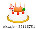 クリスマスケーキのリアルイラスト 22116751