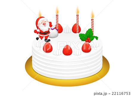 クリスマスケーキのリアルイラスト 22116753