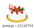 クリスマスケーキのリアルイラスト 22116754