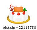 クリスマスケーキのリアルイラスト 22116758