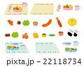 お弁当 弁当箱 食べ物のイラスト 22118734
