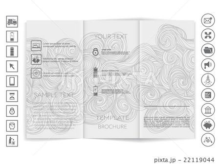 Tri-Fold Brochure mock up vector designのイラスト素材 [22119044] - PIXTA