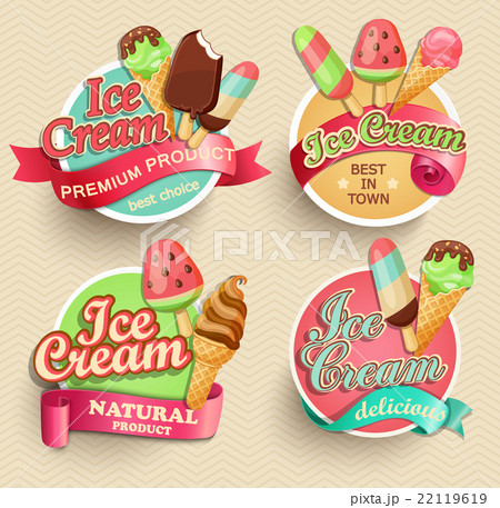 Ice cream emblems. 22119619