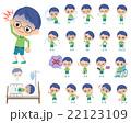 男の子 子供 病気のイラスト 22123109