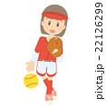 ソフトボール 女子 イラスト 22126299
