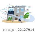 台風 災害 暴風のイラスト 22127914