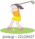 ゴルフ女子 22129437