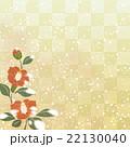 椿と石畳の背景模様 22130040