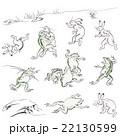 鳥獣人物戯画のイメージイラスト 22130599