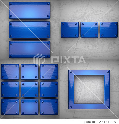 colored metal on concrette wall background setのイラスト素材 [22131115] - PIXTA