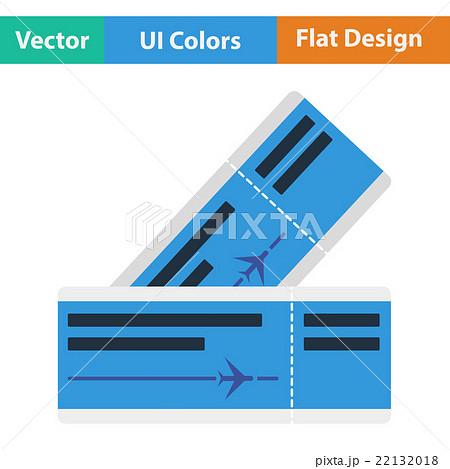 Flat design icon of airplane ticketsのイラスト素材 [22132018] - PIXTA