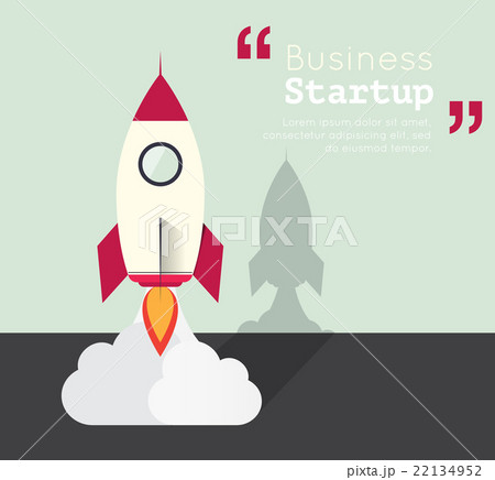 Business startup concept with backgroundのイラスト素材 [22134952] - PIXTA