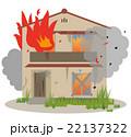 空き家 火災 火事のイラスト 22137322