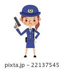 拳銃を持つ女性警察官 22137545