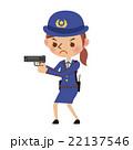 拳銃を構える女性警察官 22137546