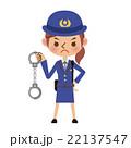 手錠を持った女性警察官 22137547