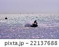 水上スキーのシルエット 22137688