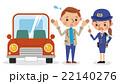 ドライバーを注意する女性警察官 22140276