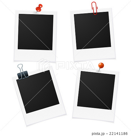 photo frames and pin vectorのイラスト素材 22141186 pixta