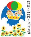 夏 気球で空の旅を楽しむ家族 22144513