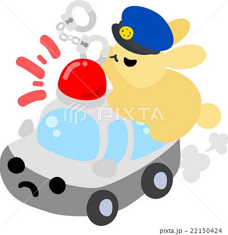 警察官の姿をした可愛いウサギのイラスト素材 22150424 Pixta