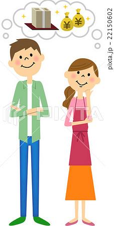 大金を想像する若いカップル 22150602